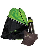Back sack, Hat, Waterbottle
